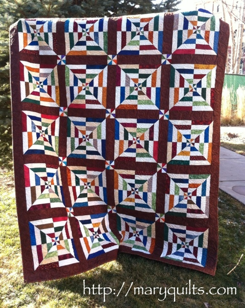 Chris' spiderweb quilt