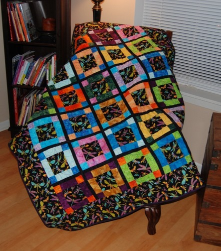 dragonflies quilted