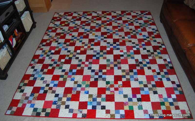 fast 4 patch quilt tutorial