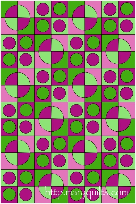 Pink-green Circles and DP