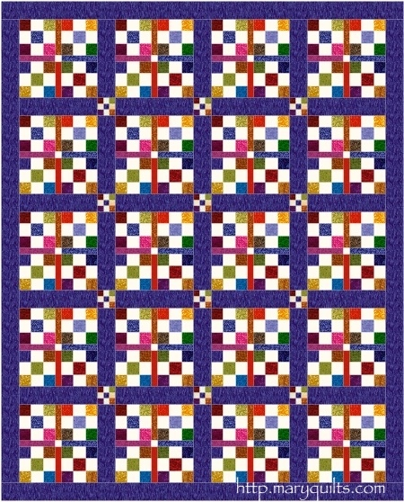Sashed 9 Patches Maryquilts